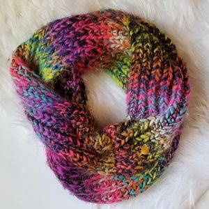 Betsey Johnson multicolored infinity scarf